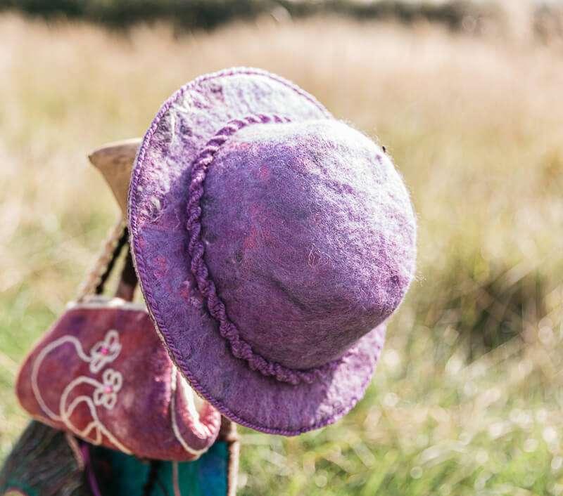 Fedora Felt Hat - Handmade by Ewe-nique Designs