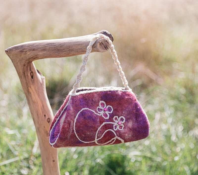 Handmade Felt Handbag - Ewe-nique Designs